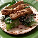 "Elana's Meat-Free Monday: ""Chicken"" Caesar Flatbread"