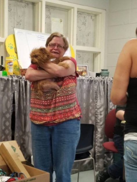 A Louisiana woman is reunited with her dog after last month's historic flooding. Photo Credit: Humane Society of Louisiana
