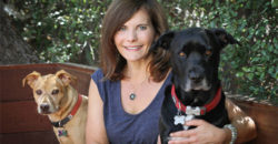 Author and Dog Adoption Expert Diane Rose-Solomon poses with her two rescued dogs.